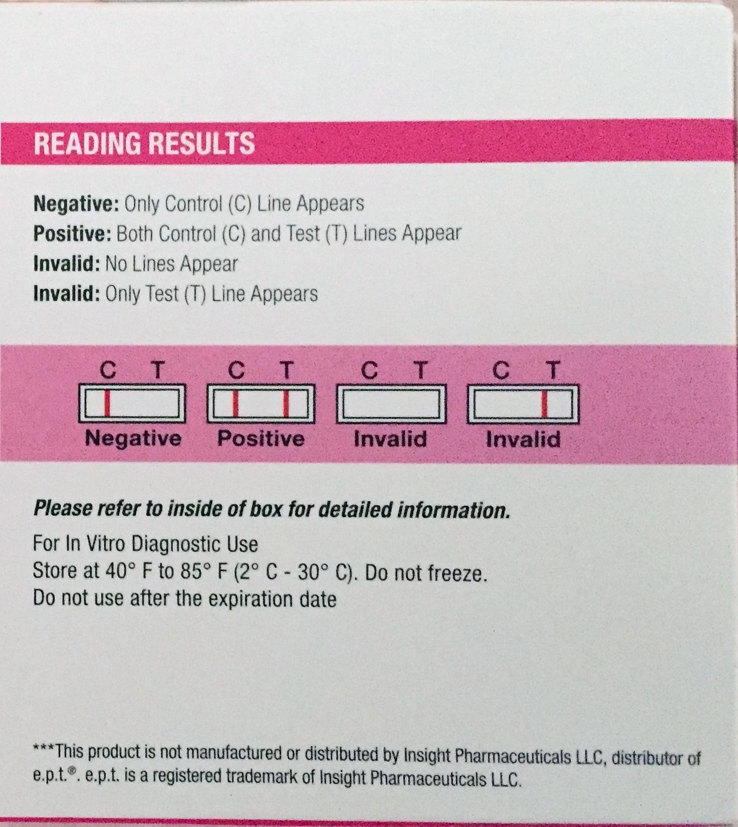 Assured Pregnancy Test results