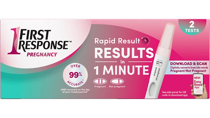 Get your pregnancy test result in 1 minute!