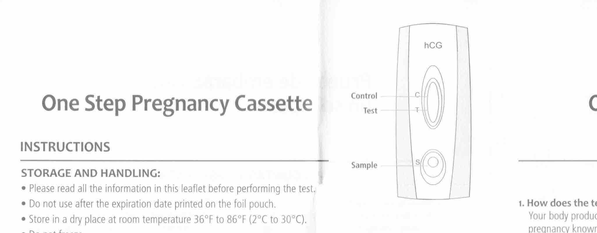 Dollar General Pregnancy Test instructions