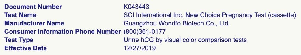 SCI International at the FDA.