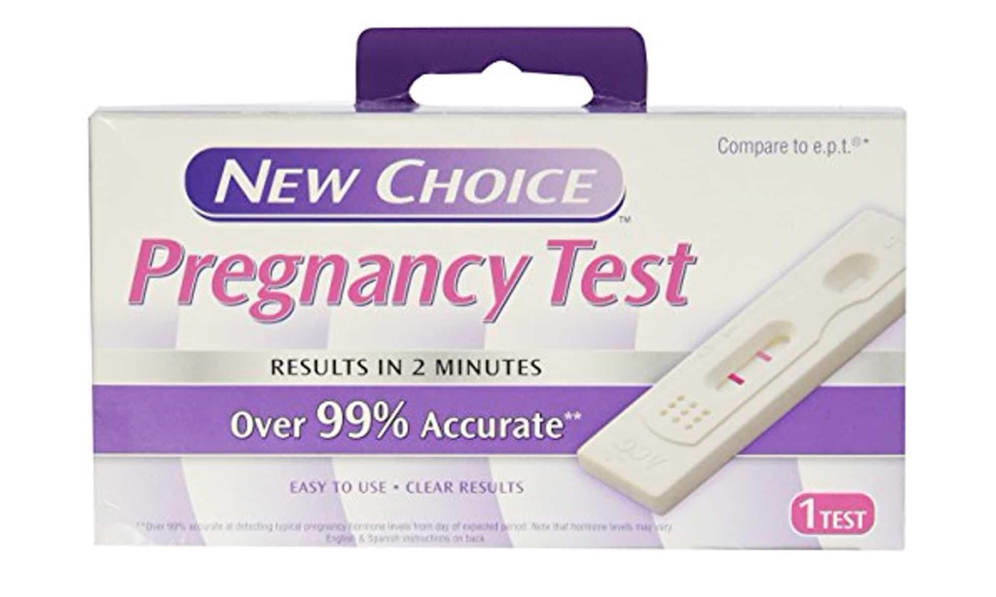 new choice pregnancy test faint line