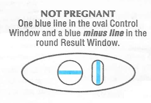 Rexall One Step Pregnancy Test negative result