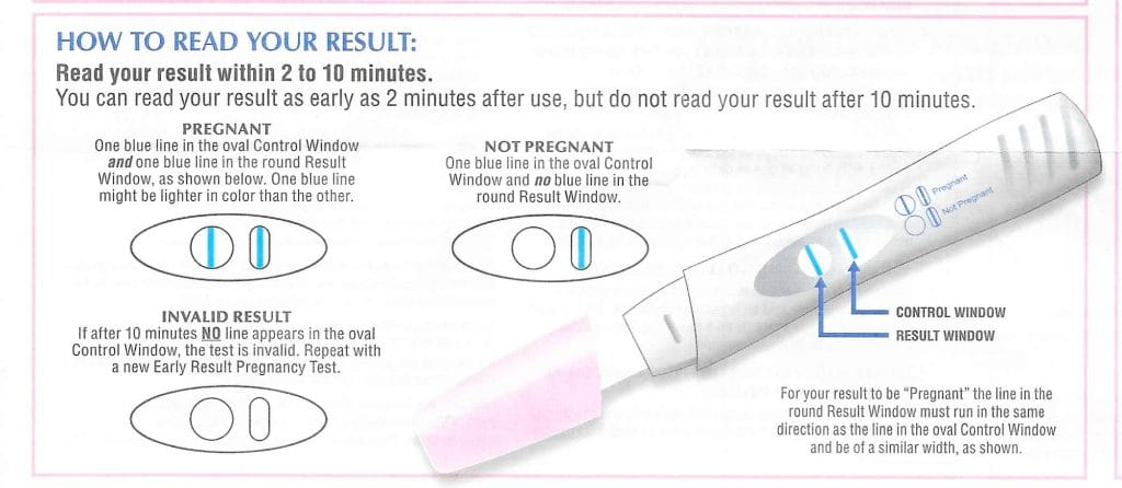 Rite Aid Pregnancy Test Reviews - Readling your result.
