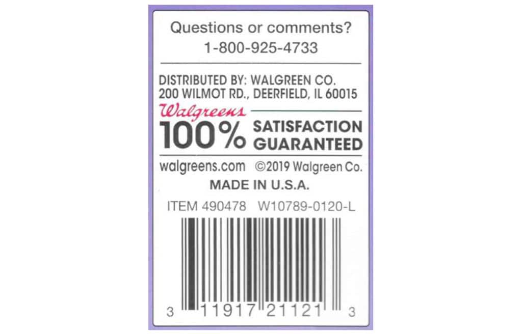 Walgreens One Step Analog Pregnancy Test UPC code